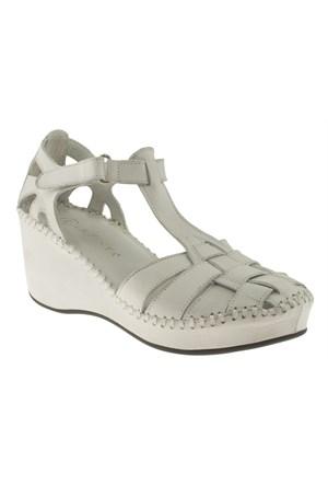 La Pinta 270 418-42Z Beyaz Sandalet