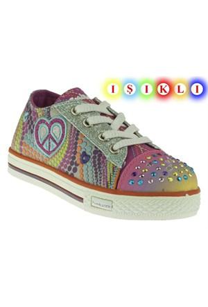 Pink Step 257 Pety-2P Gümüş Ayakkabı