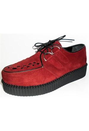 Köstebek Creepers Ayakkabı Bordo