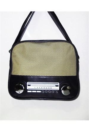 Köstebek Yatay Radyo Çanta Lacivert