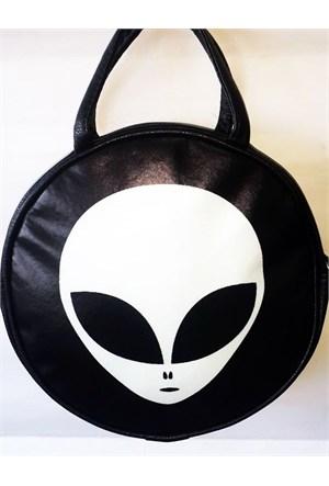 Köstebek Alien Postacıyuvarlak Çanta