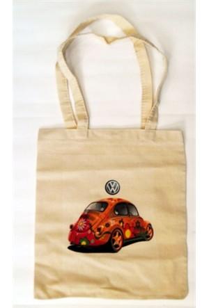 Köstebek Volkswagen Beetle Bez Çanta