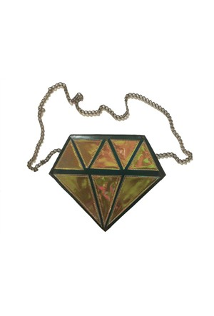 Köstebek Brown Hologram Diamond Çanta