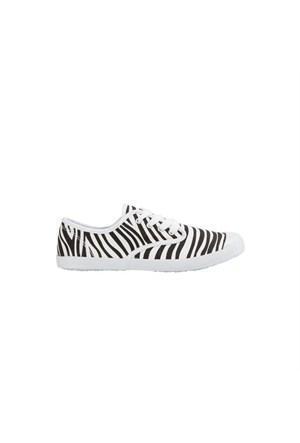 Pieces Ayakkabı Penny Canvas Zebra Black 17055622-Blk
