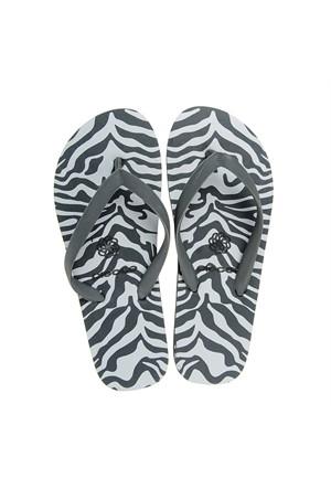 Pieces Parmak Arası Terlik Vera Zebra Grey 17055674-Chg