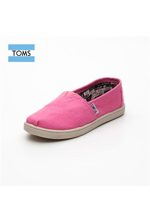 Toms 012001C13 Pink Canvas Pink Ayakkabı