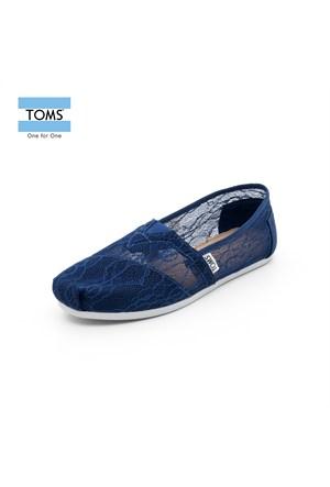 Toms 10004971 İnk Lace Wm Clsc Alprg Navy Ayakkabı