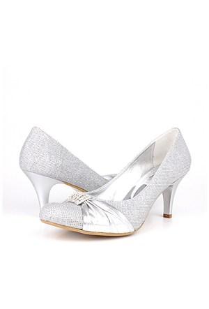 Loggalin 277277 031 773 Kadın Silver Abiye Ayakkabı