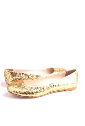 Loggalin 222001 726 Kadın Gold Simli Babet