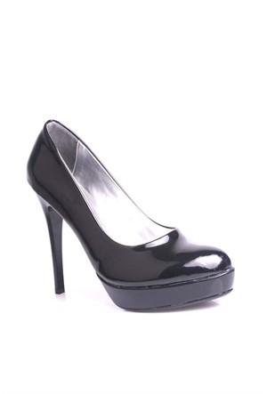 Loggalin 580501 031 020 Kadın Siyah Rugan Platform Ayakkabı