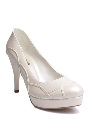 Loggalin 580505 031 313 Kadın Sedef Beyaz Platform Ayakkabı