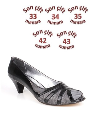 Loggalin 012563 031 073 Kadın Siyah Abiye Ayakkabı