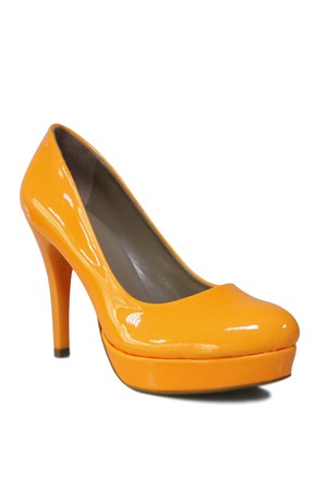 Loggalin 580501 031 291 Kadın Neon Turuncu Platform Ayakkabı