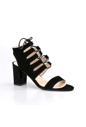 Cabani Topuklu Kadın Ayakkabı Siyah Nubuk