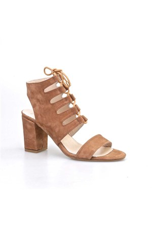 Cabani Topuklu Kadın Ayakkabı Taba Nubuk