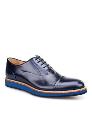 Nevzat Klasik Erkek Ayakkabı Lacivert Açma Deri