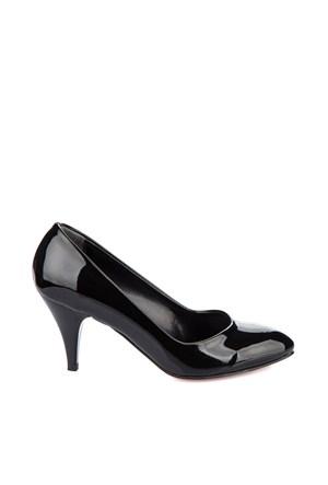 Pembe Potin Helena Siyah Rugan Ayakkabı