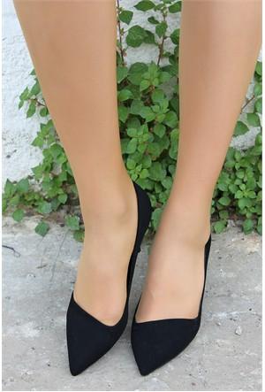 Pembe Potin Stella Siyah Nubuk Ayakkabı