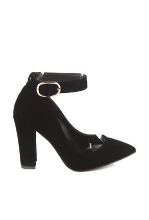 Pembe Potin Kelly Siyah Nubuk Ayakkabı