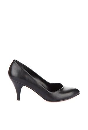 Pembe Potin Helena Siyah Ayakkabı