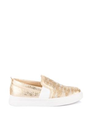 Pembe Potin Bianca Dore Taşlı Ayakkabı