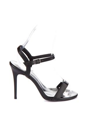 Pembe Potin Mary Siyah Ayakkabı
