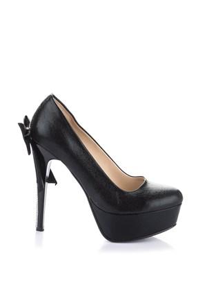 Pembe Potin Frieda Siyah Ayakkabı