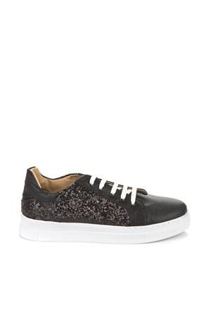Pembe Potin Sasha Siyah Ayakkabı