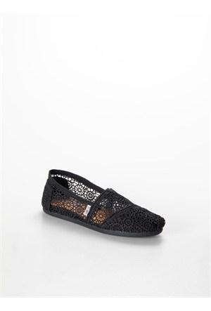Toms Black Moroccan Crochet Wm Alpr Esp Kadın Günlük Ayakkabı 10007853 10007853.Blmr