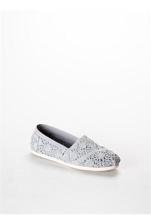 Toms Silver Crochet Metallic Wm Alpr Esp Kadın Günlük Ayakkabı 10008028 10008028.Slcr