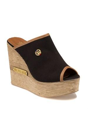 U.S. Polo Assn. 298210 Siyah Kadın Sandalet