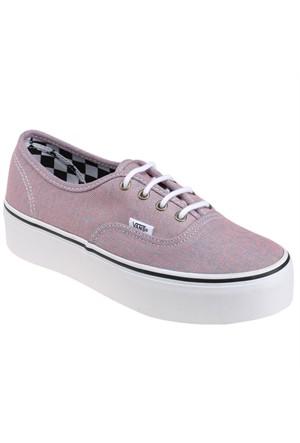 Vans Authentic Platform Pembe Kadın Sneaker
