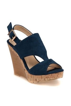 Miss F F18046 Lacivert Kadın Sandalet