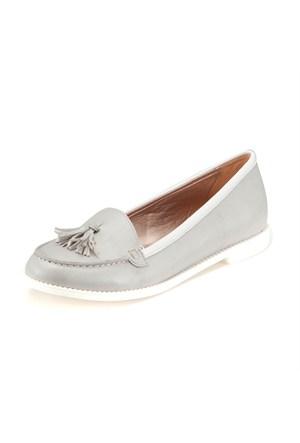 Miss F 7810 M 8087 Gri Kadın Ayakkabı
