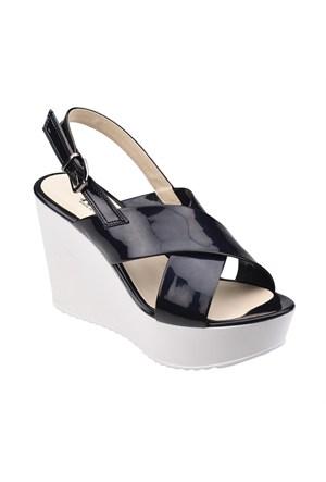 Polaris 61.308558.Z Siyah Kadın Sandalet