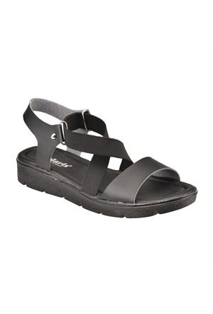 Polaris 61.308619.Z Siyah Kadın Sandalet