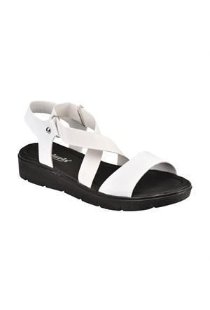 Polaris 61.308619.Z Beyaz Kadın Sandalet