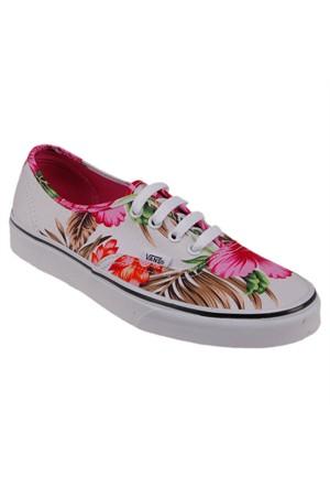 Vans Authentic Beyaz Kırmızı Kadın Sneaker