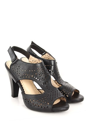Gön Deri Kadın Sandalet 26009 Siyah