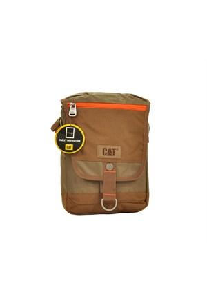 Cat Çapraz Askılı Tablet Bölmeli Postacı El Çantası Kahve 83132
