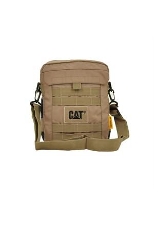 Cat Çapraz Askılı Tablet Bölmeli Postacı El Çantası Kum 83150