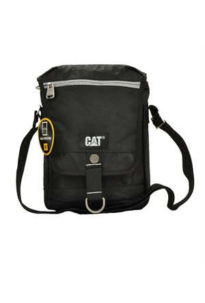 Cat Çapraz Askılı Tablet Bölmeli Postacı El Çantası Siyah 83132