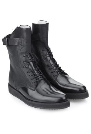 Swear Karin 3 Siyah Deri Ayakkabı