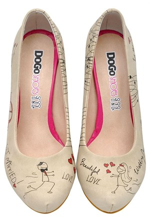 Dogostore Just Married Topuklu Ayakkabı