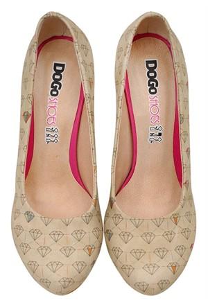 Dogostore Diamonds Forever Topuklu Ayakkabı