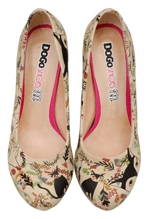 Dogostore Ethnicat Topuklu Ayakkabı