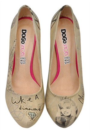 Dogostore Like A Diamond Topuklu Ayakkabı