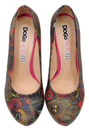 Dogostore Neon Topuklu Ayakkabı