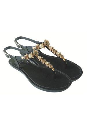 Twigy Nina Taşlı Parmak Arası Sandalet