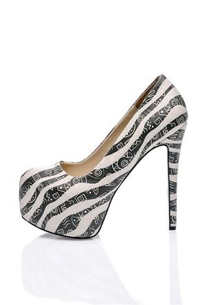Los Ojo Zebrative Topuklu Ayakkabı